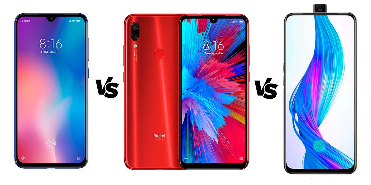 Xiaomi CC9e vs Redmi Note 7 vs Realme X
