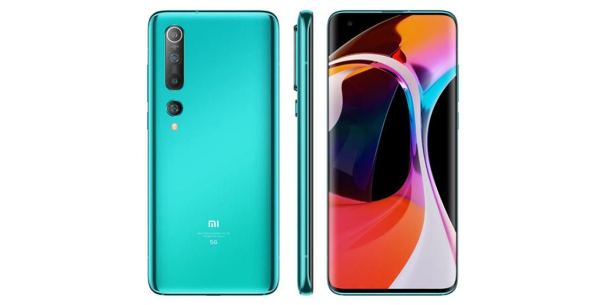 Xiaomi Mi 10 diseño