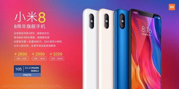 Xiaomi Mi 8 precio