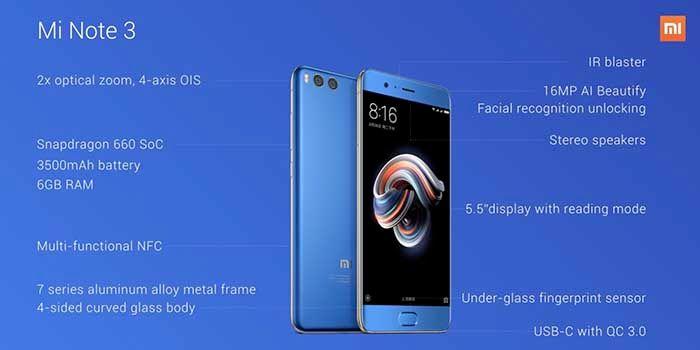 Xiaomi Mi Note 3 Especificaciones