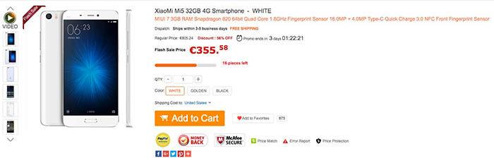 Xiaomi Mi5 oferta barato