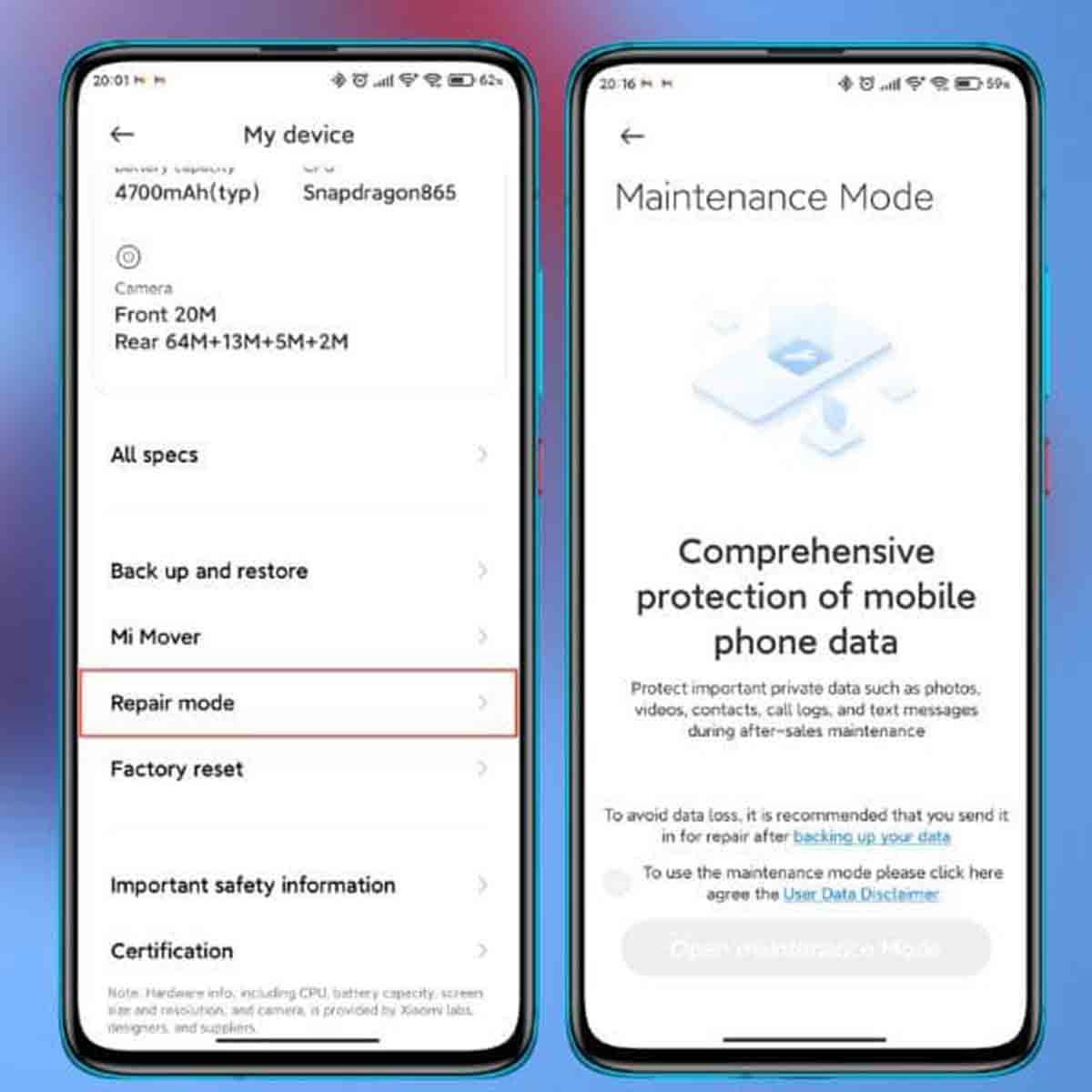 Xiaomi Modo Reparación