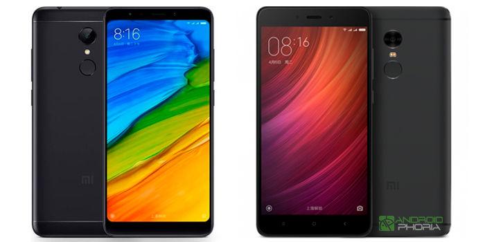 Xiaomi Redmi 5 vs Redmi Note 4