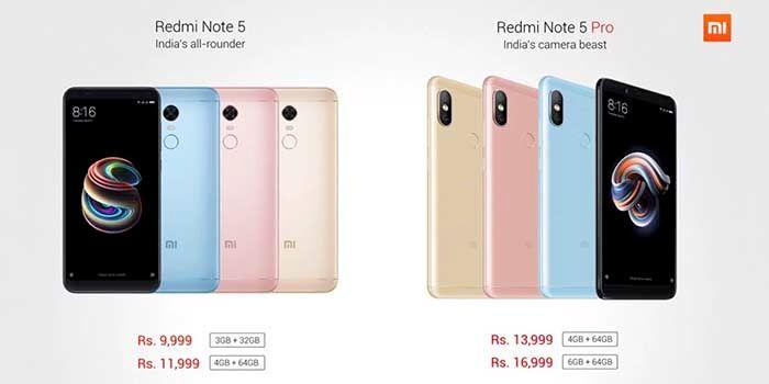 Xiaomi Redmi Note 5 Precio