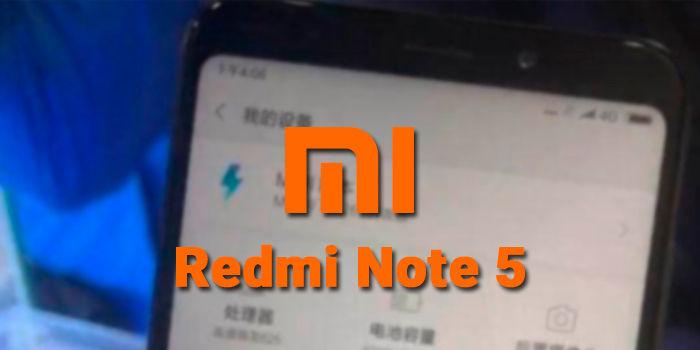 Xiaomi Redmi Note 5 foto filtrada