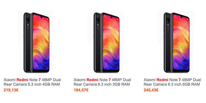 Xiaomi Redmi Note 7 precio Espana