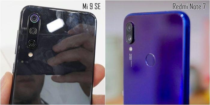 Xiaomi Redmi Note 7 vs Xiaomi Mi 9 SE camaras