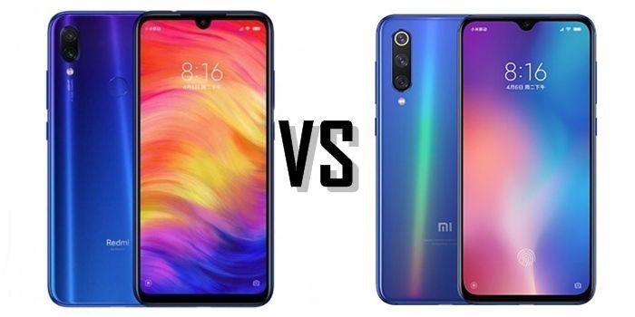 Xiaomi Redmi Note 7 vs Xiaomi Mi 9 SE comparativa