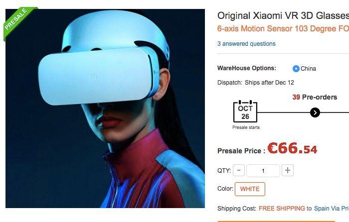 Xiaomi VR de oferta por 66 euros