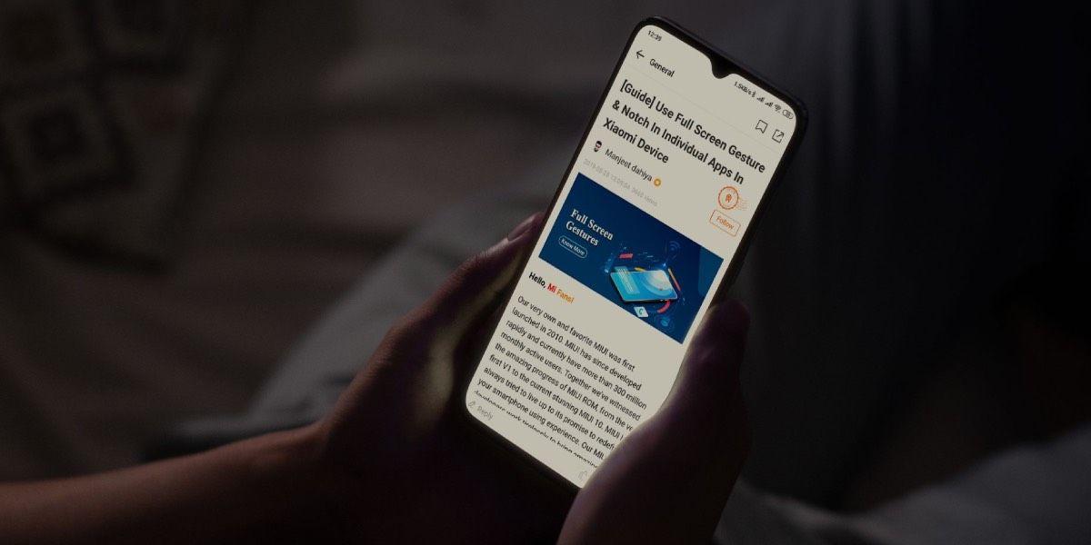 Xiaomi modo lectura