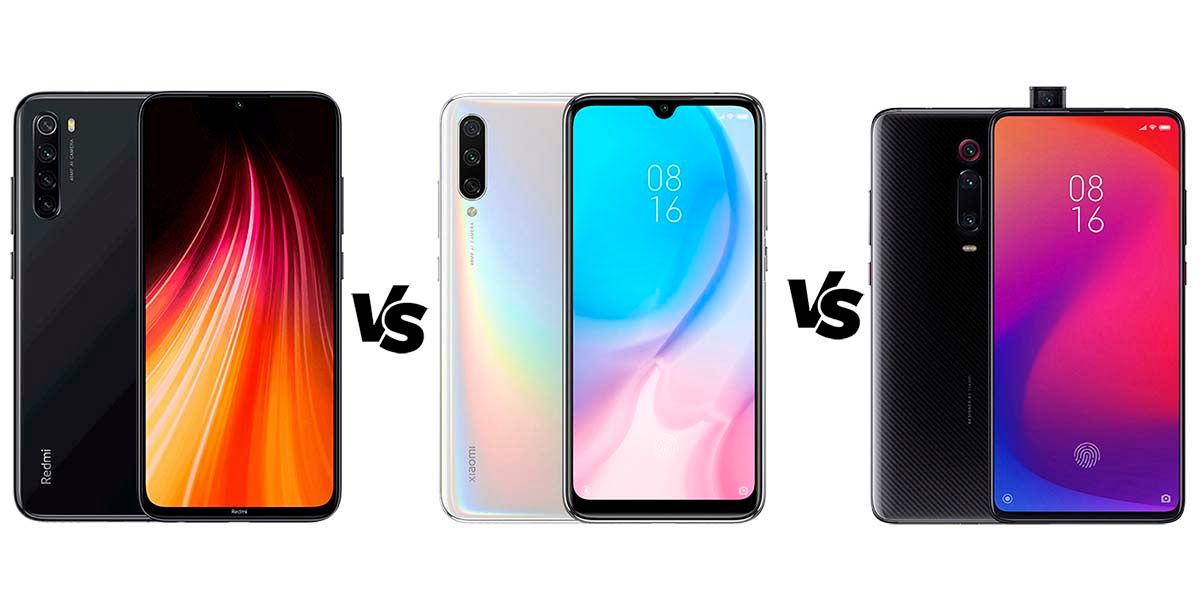 Xiaomi redmi note 8 vs mi a3 vs mi 9t