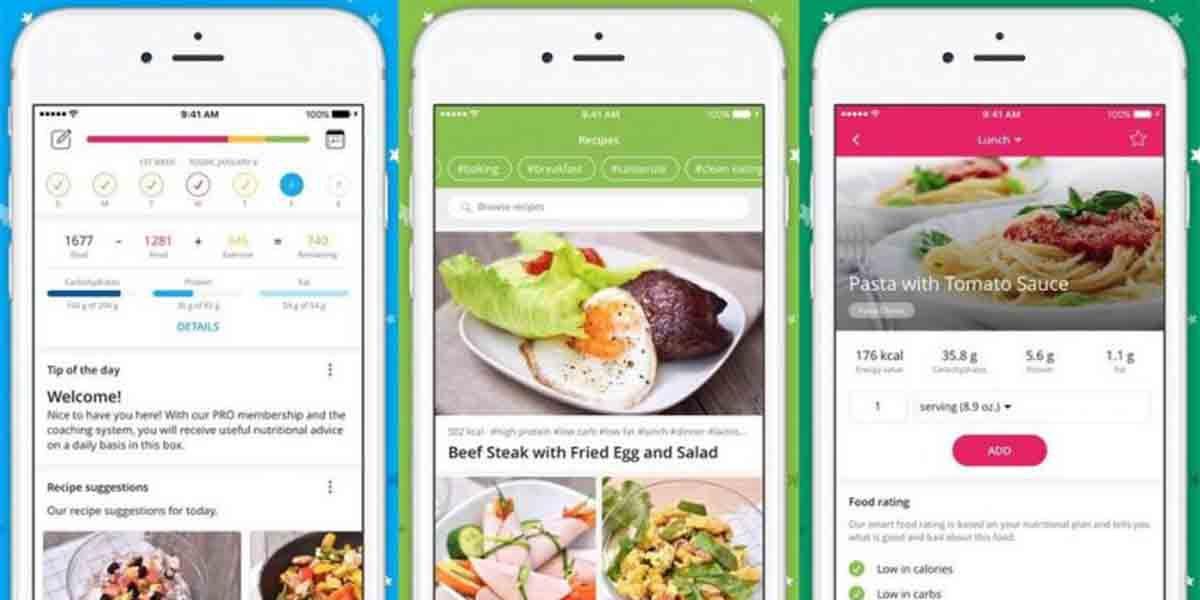 Yazio app Android contar calorías