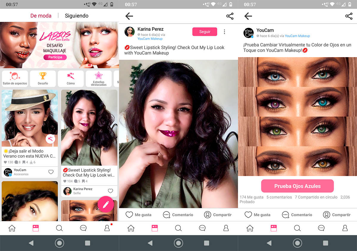 YouCam Makeup red social