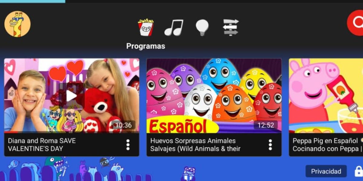 YouTube Kids vídeos