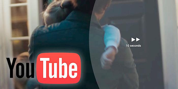 YouTube cambiar tiempo doble toque Android