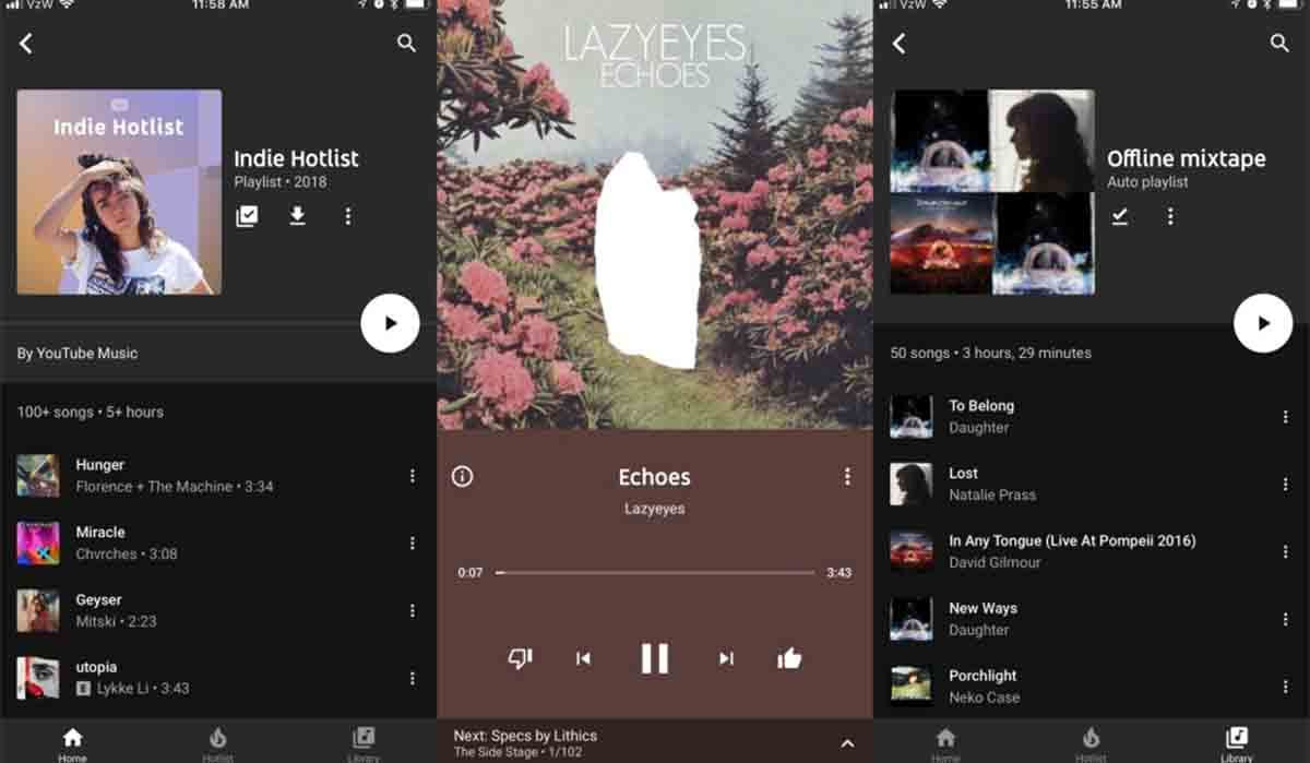 Youtube Music app modo conducción