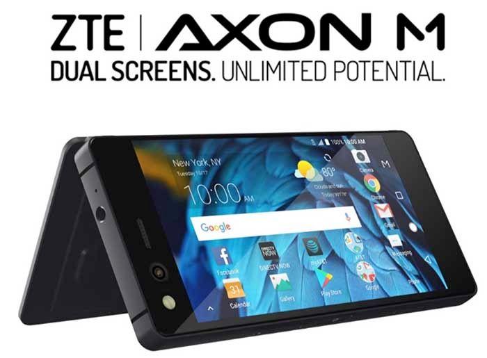 El 'smartphone' con doble pantalla plegable — ZTE Axon M