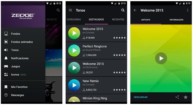 Zedge para Android