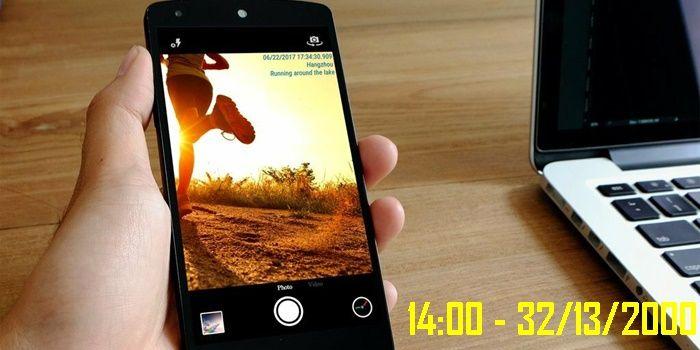 anadir fecha a las fotos automaticamente android