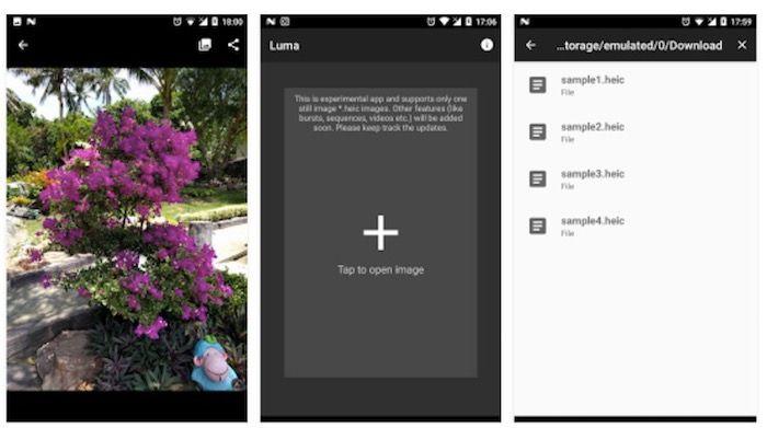 abrir archivos HEIF en Android