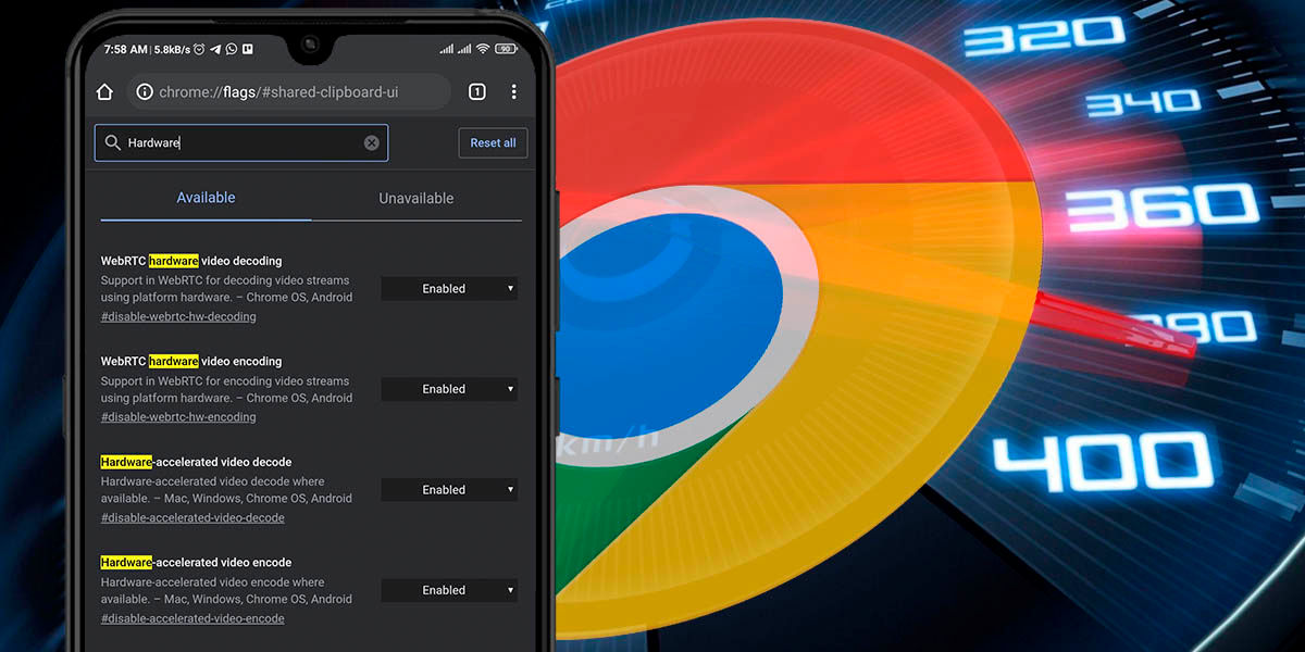 acelerar velocidad google chrome android