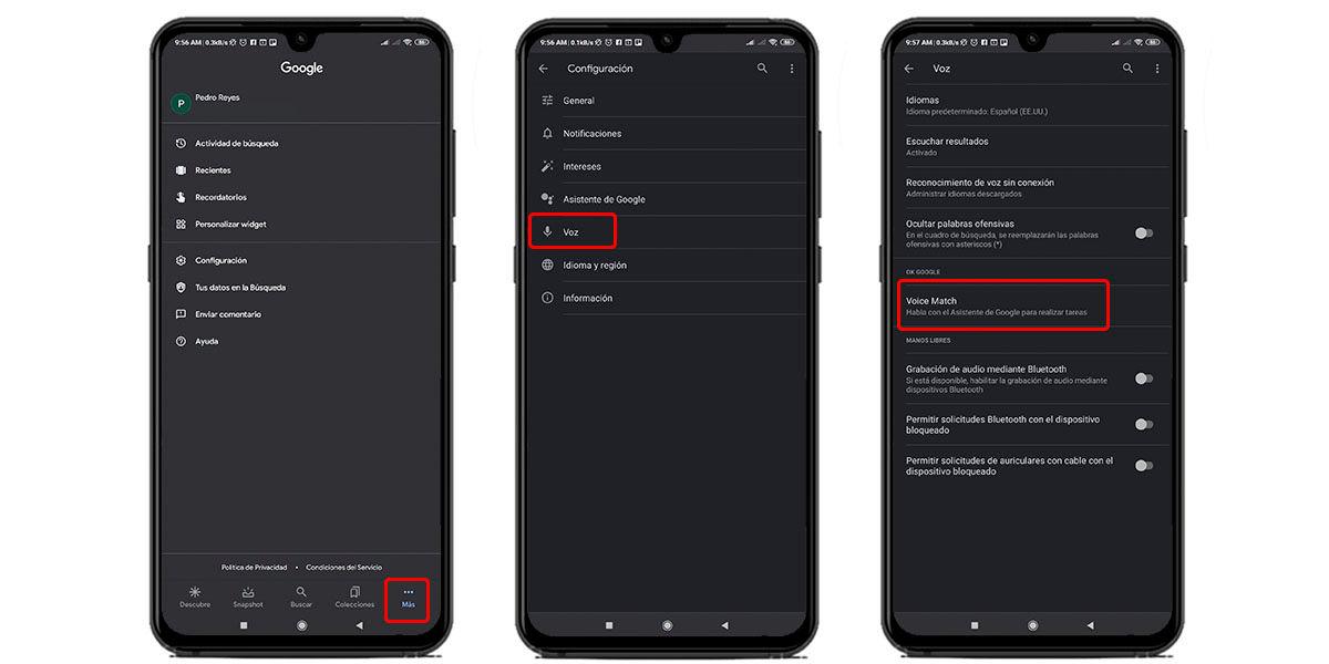 activar asistente de voz android