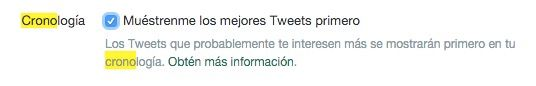 activar desactivar nuevo timeline twitter
