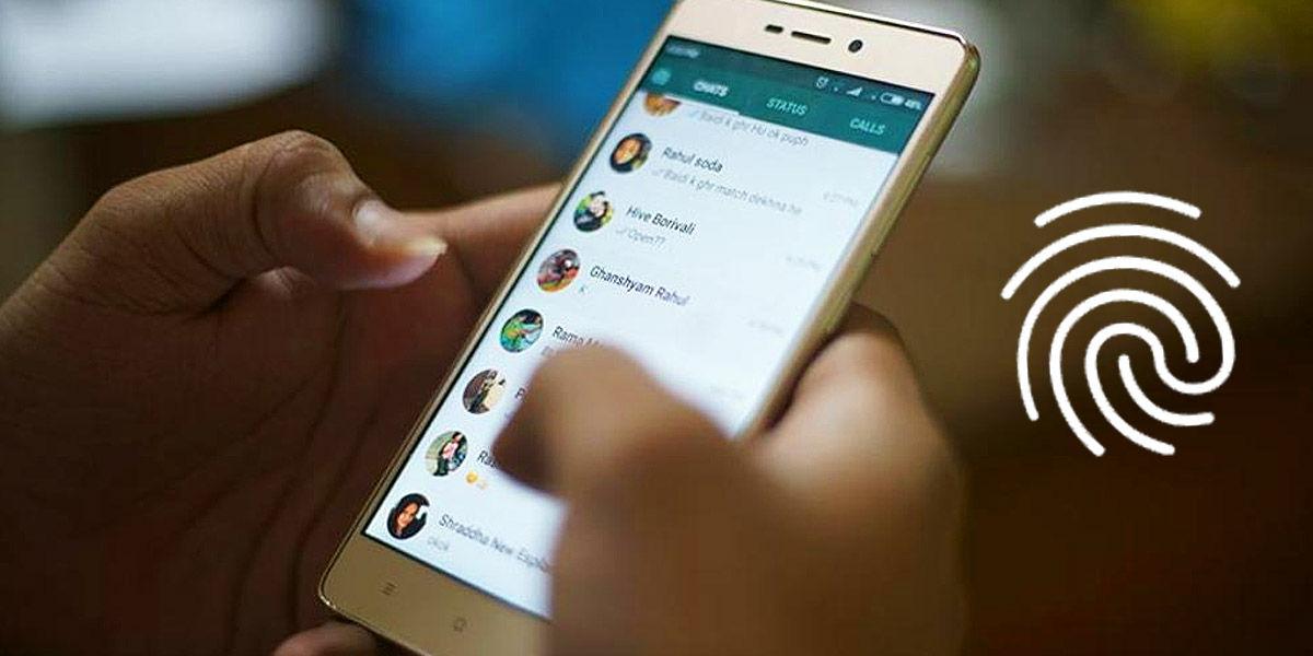 activar desbloqueo huella dactilar whatsapp
