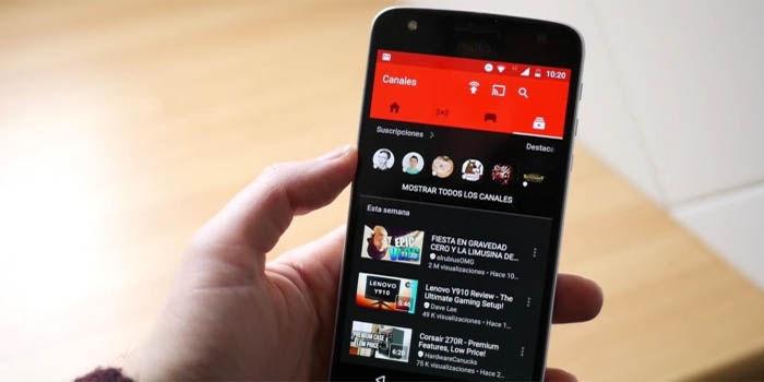 activar el modo oscuro de youtube en android