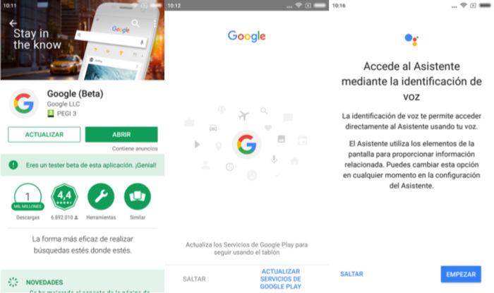 activar google assistant tablet marshmallow