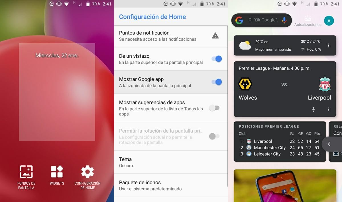 activar google feed en rootless launcher