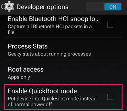 activar quickboot oneplus 2