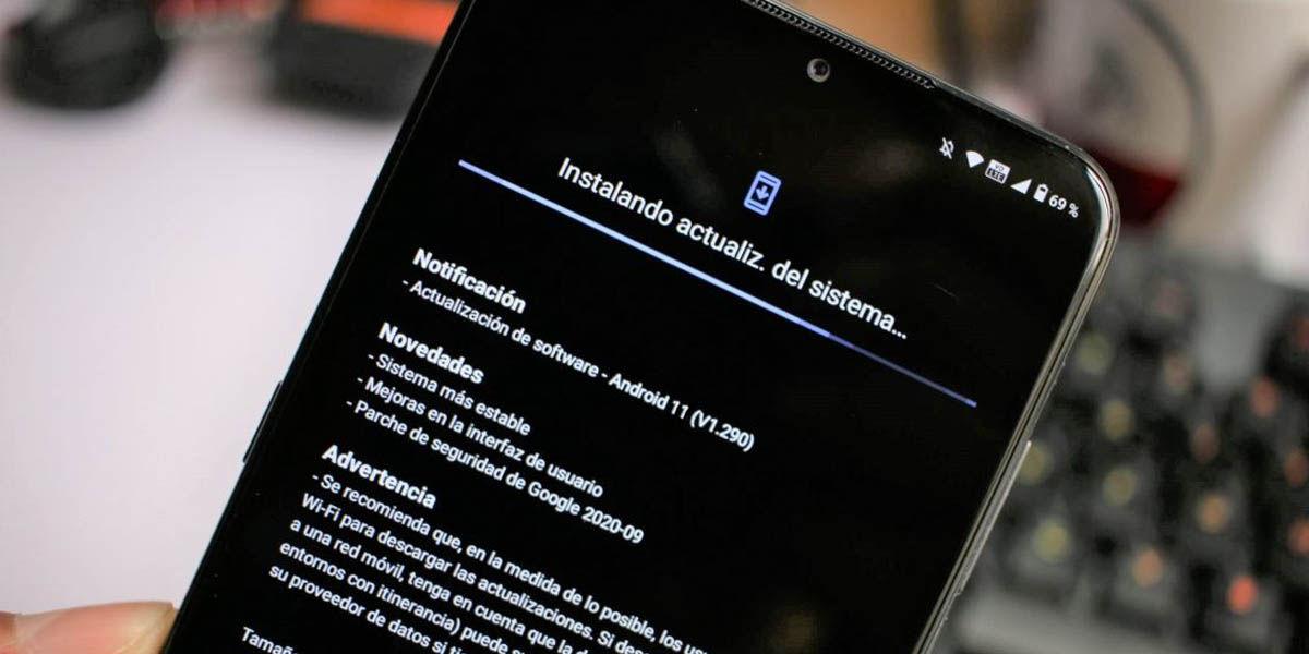 actualización android disponible