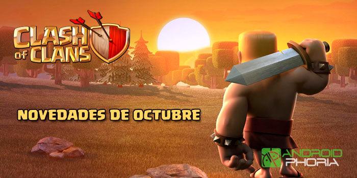 Actualización Clash of Clans Octubre 2017