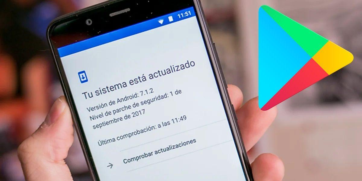 actualizacion de sistema desde Google Play