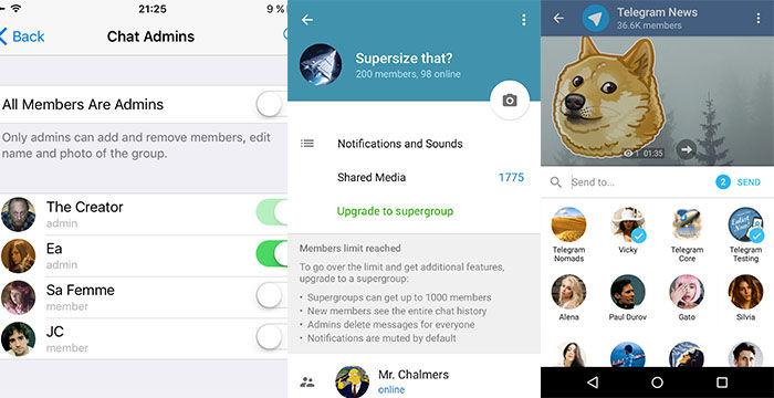 actualizacion telegram 3.3 con supergrupos
