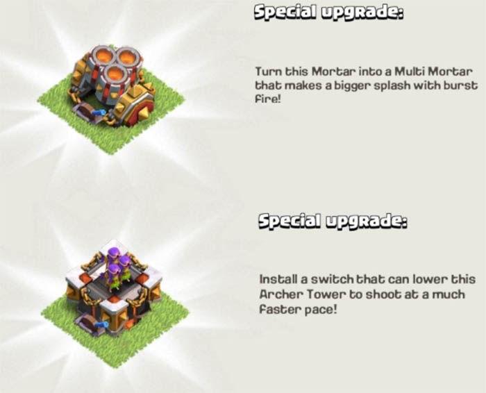 actualizaciones especiales de clash of clans