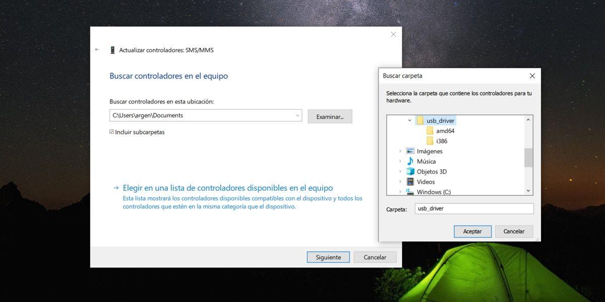actualizar controladores usb manualmente en windows