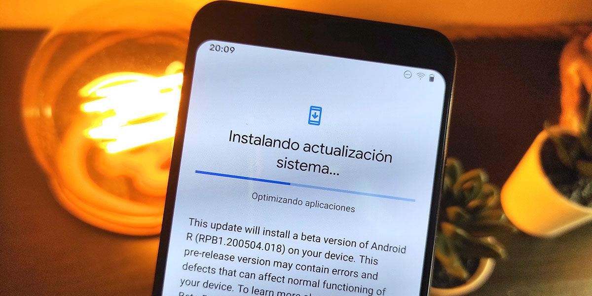 actualizar google pixel android 11