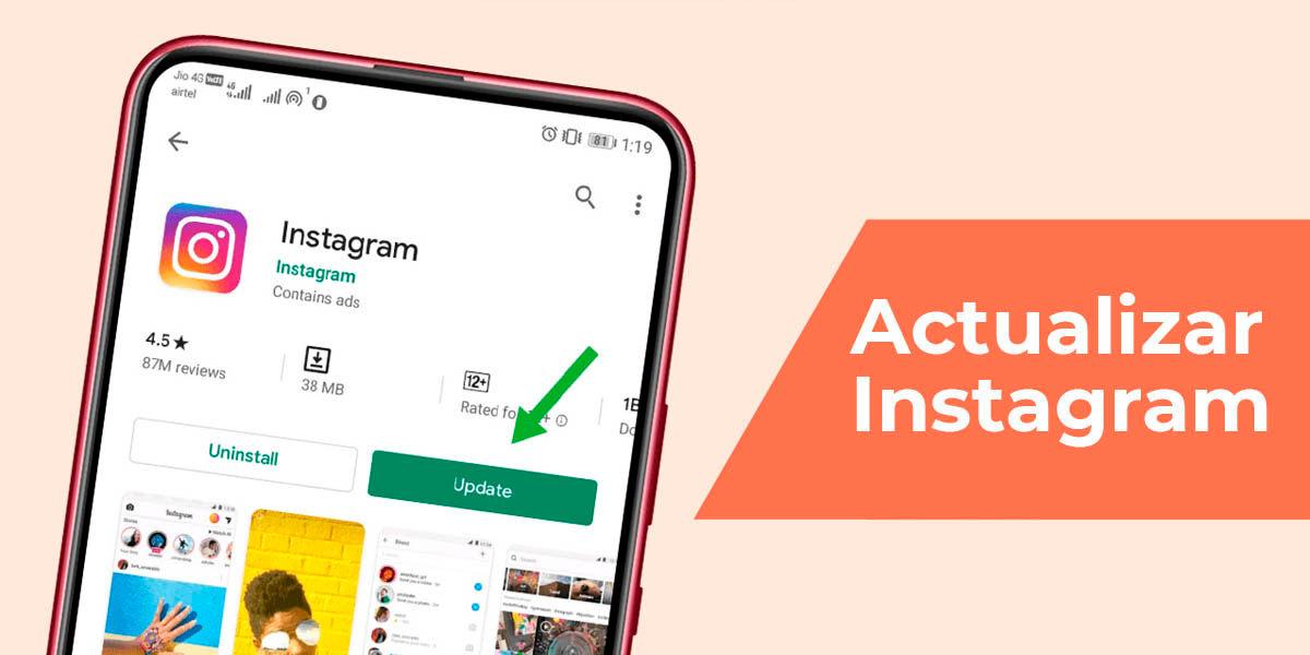 actualizar instagram reels