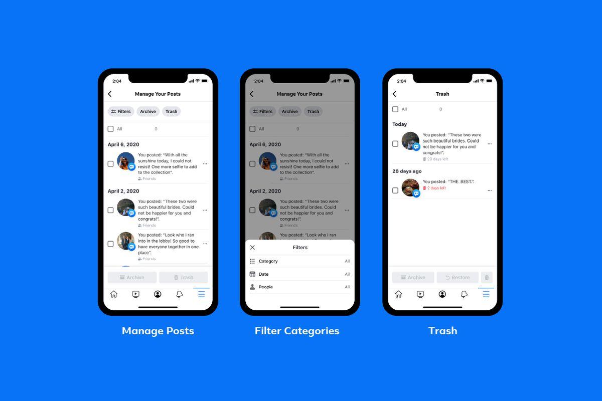 administrar actividad facebook