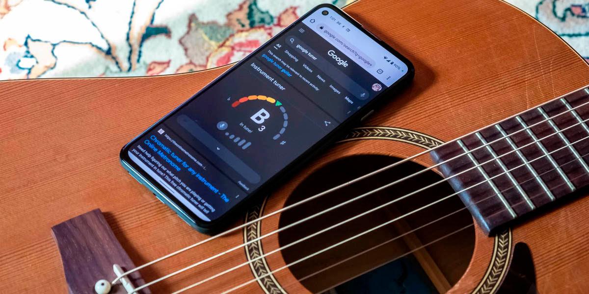afinador de guitarra buscador google