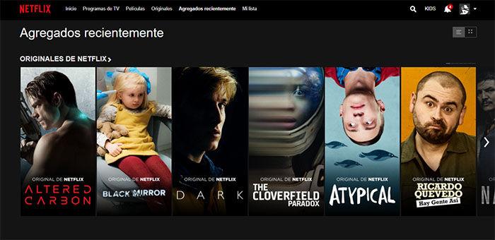 agregados recientemente en Netflix