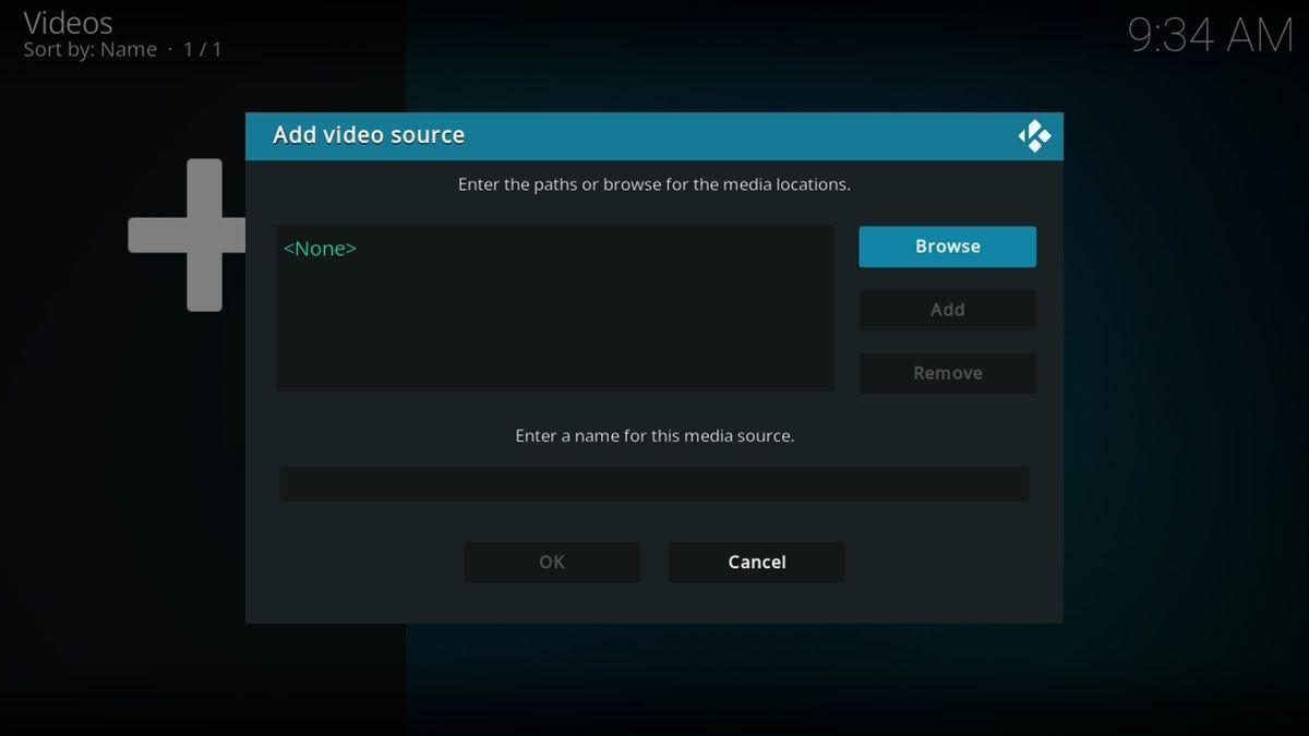 agregar fuente de video en kodi