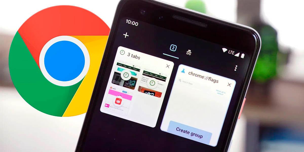 agrupamiento de pestañas Google Chrome smartphones