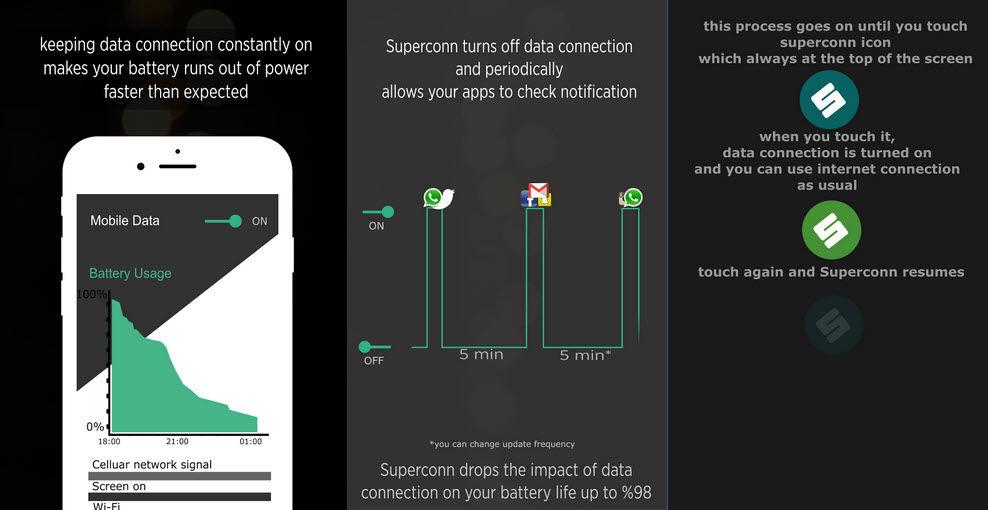 ahorrar batería android superconn1