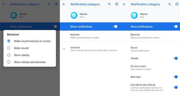 ajustes notificaciones android pie