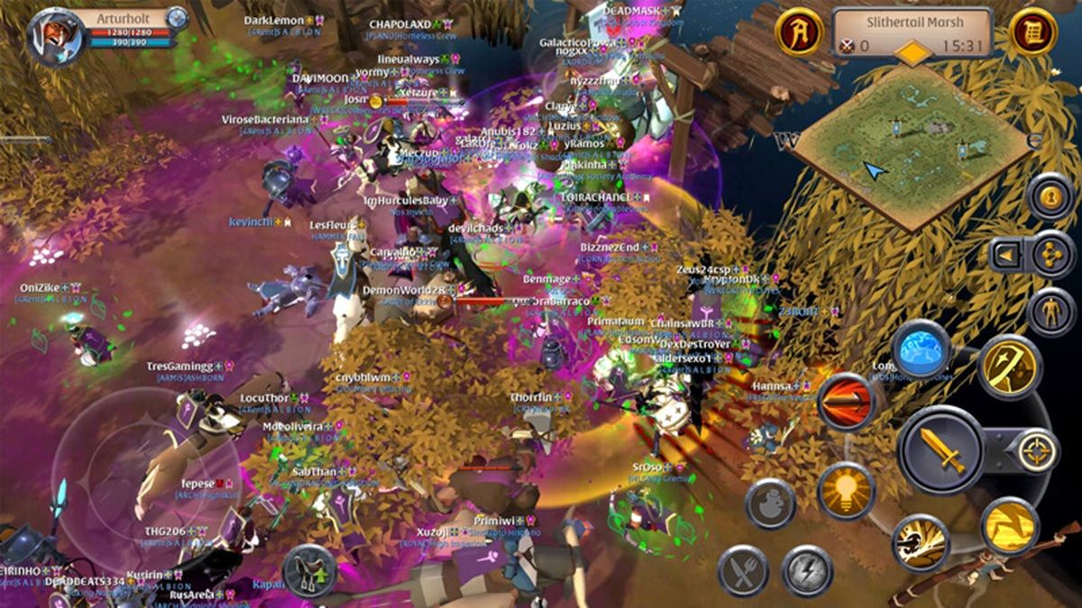 albion online gameplay moviles