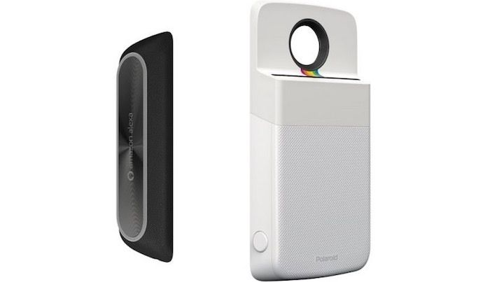 nuevos moto mods altavoz Alexa impresora Polaroid