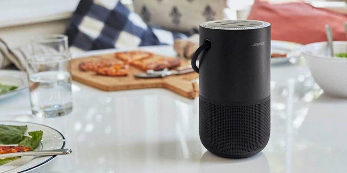 altavoz bose home speaker portátil asistente de google